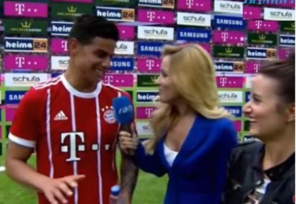 Video: Las primeras palabras de James en alemán