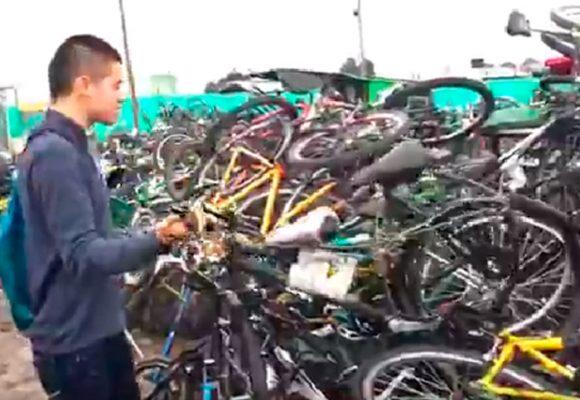 Video: Como basura son tratades las bicicletas inmovilizadas en patios de Bogotá