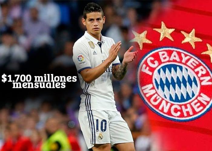 La jugada del Real Madrid para no pagar los $1.700 millones que gana James al mes