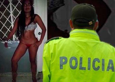 Modelo de cali grabada por policias