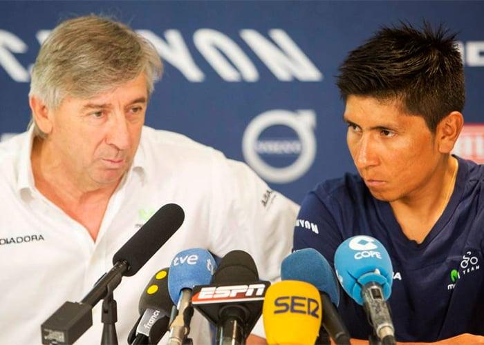 La desilusión del técnico de Movistar con Nairo Quintana