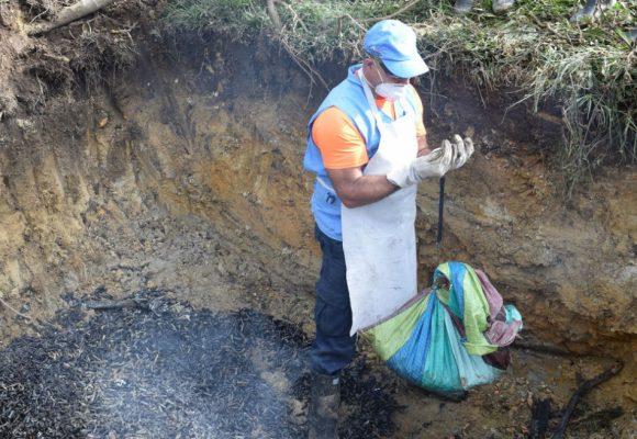 La fosa común de las armas de las FARC