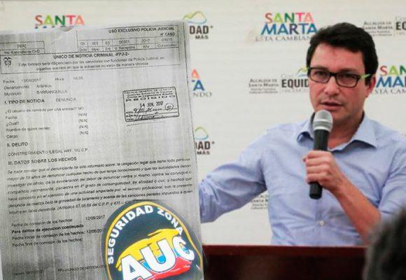 Los Cotes de Santa Marta habrían pedido a paramilitar que enlode al exalcalde Carlos Caicedo