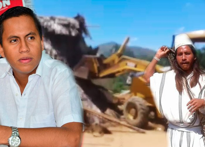 Video: Con un buldócer el ESMAD persigue a los Arhuacos en el César