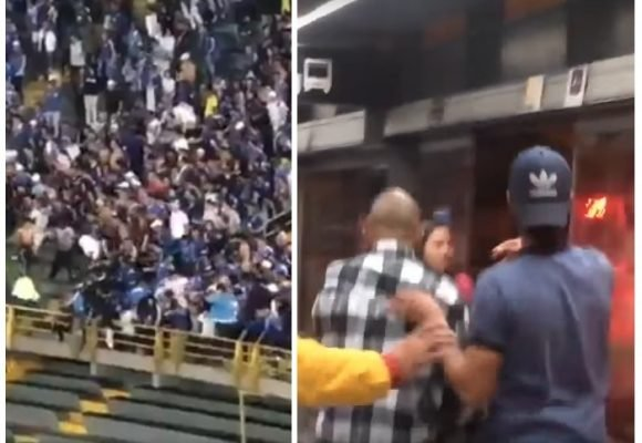 Videos de las peleas en Transmilenio y El Campín de los hinchas de Millonarios