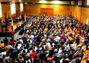 Lleno total de Álvaro Uribe y sus precandidatos del C.D. en Boyacá