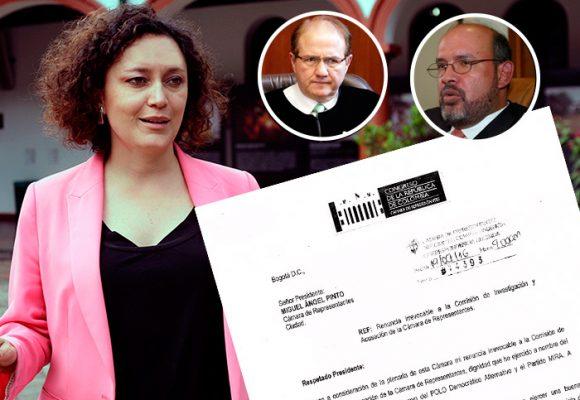 """""""La Comisión de Acusaciones es un modelo hecho para la impunidad"""", la carta de renuncia de Angélica Lozano"""