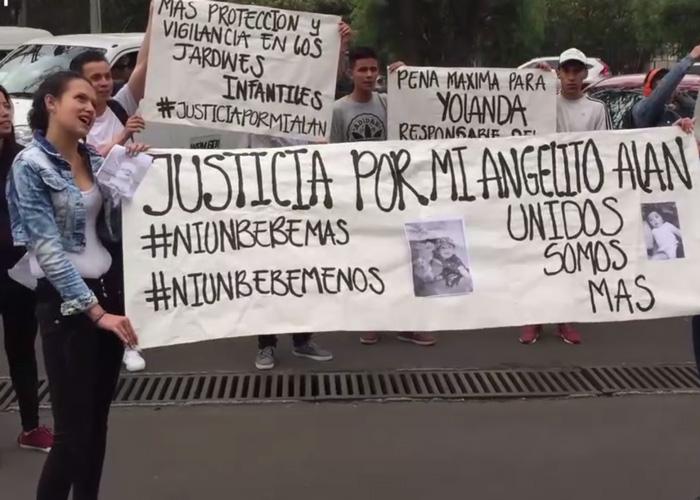 Madre ruega justicia por la muerte de su bebé en un jardín infantil