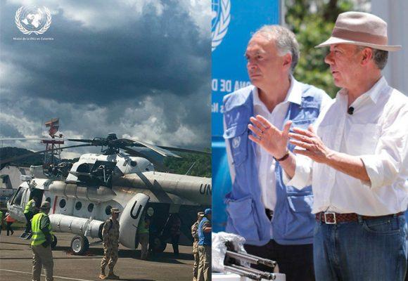 """""""Esta paz es la victoria de las FARC. Sin su sacrificio el desarme no se habría podido"""", Santos"""