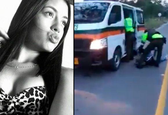 VIDEO: La modelo que murió tras recibir un disparo de la Policía de Tránsito