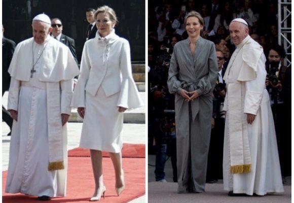 Las diseñadoras que crearon los polémicos vestidos de Tutina durante la visita del Papa