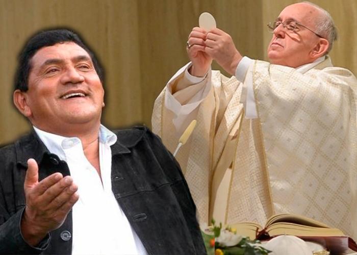 Faltó Poncho Zuleta en la misa del papa: discúpanos santidad por nuestra narcocultura