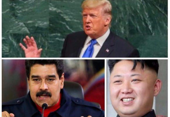Trump se va contra los regímenes autoritarios de Corea del Norte, Iran y Venezuela