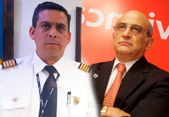 El templado capitán Hernández, uno de los chuzados por el contratista de Avianca