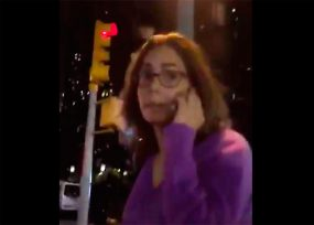 EN VIDEO: La exministra Gina Parody pasea tranquila en Nueva York