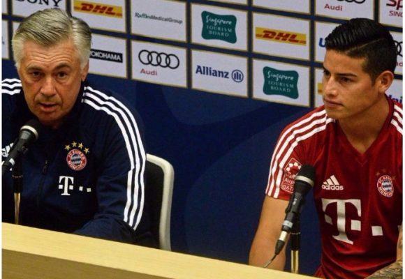 Se fue Carlo Ancelotti, el único hombre que quería a James en el Bayern