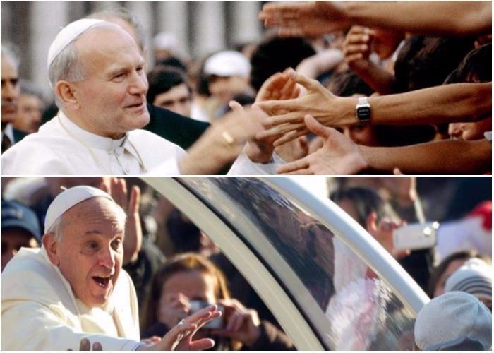 De la visita de Juan Pablo II a Polonia y de Francisco a Colombia