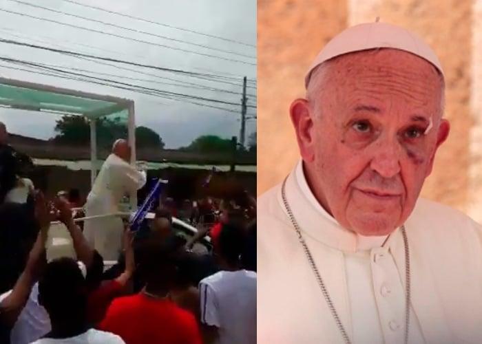 El golpe que sufrió el papa Francisco es culpa de todos los colombianos