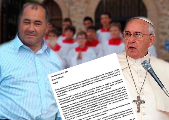 Niños abusados por sacerdotes en Colombia aprovechan la visita del Papa para hacerse oír