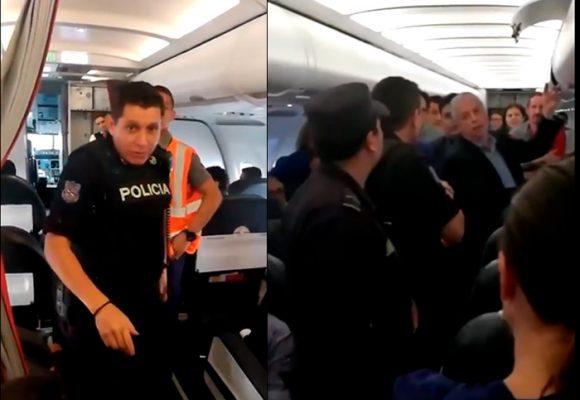 EN VIDEO: Pasajero es expulsado de avión de Avianca en confusos hechos