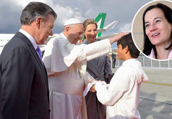 El primer regalo que le dieron al Papa era de Emmanuel, el hijo que Clara Rojas tuvo en su secuestro