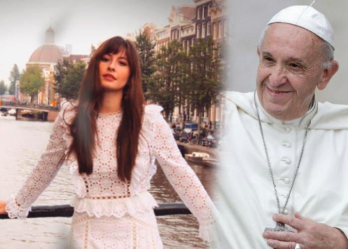 La devoción de Taliana Vargas que la acercó al papa