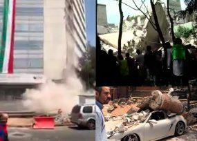 VIDEOS: 32 años después un terremoto vuelve a estremecer Ciudad de México