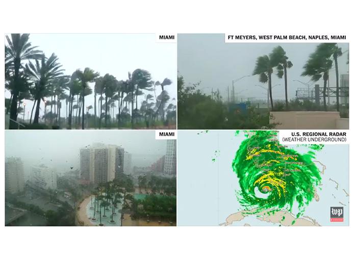 Cámaras EN VIVO: Así pasa el huracán Irma por la Florida