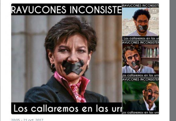 """""""En las urnas vamos a callarlos"""" La agresiva campaña en twitter contra los opositores del uribismo"""