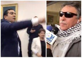 """VIDEO: """"Asesinos, asesinos"""" La agresión verbal del Centro Democrático a Jesús Santrich"""