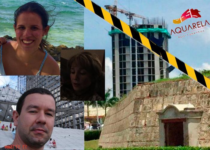 Los tres jóvenes a los que se la cayó el edificio frente al Castillo de San Felipe
