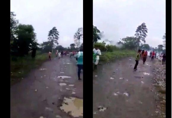 El ESMAD en Tumaco lanzó hoy gases lacrimógenos a la zona de la masacre del jueves: VIDEO