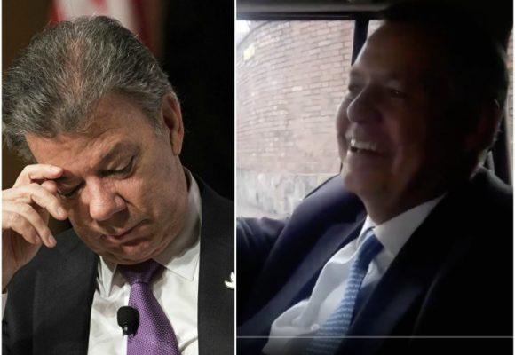 VIDEO: Santos llamó por error a Ordóñez creyendo que todavía era el Procurador