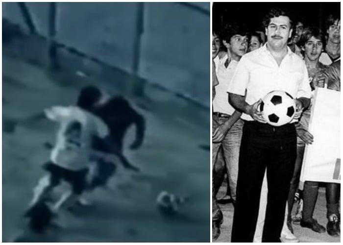 VIDEO: Pablo Escobar jugando fútbol como un crack en La Catedral