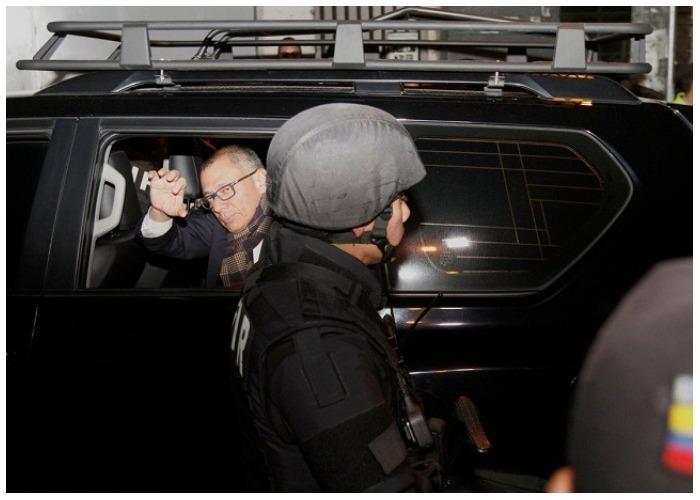 VIDEO: Así llegó Jorge Glas, vicepresidente de Ecuador, a la cárcel donde pasó su primera noche