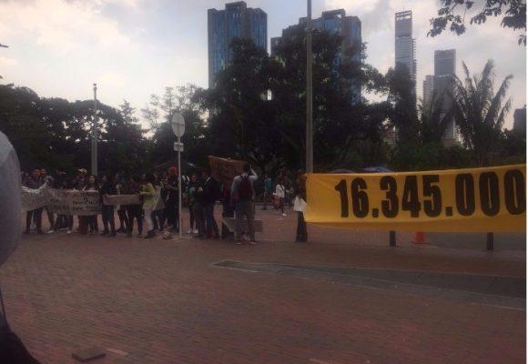 Se calientan los ánimos en los Andes: la protesta contra los $16 millones semestrales: VIDEO