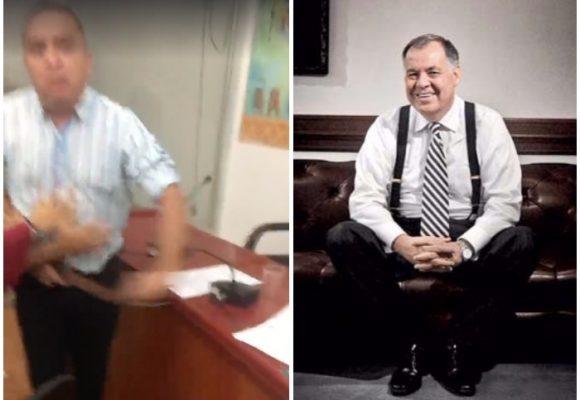 Aliado de Ordóñez amenaza a correazos al concejal que le cantó la tabla al exprocurador: VIDEO