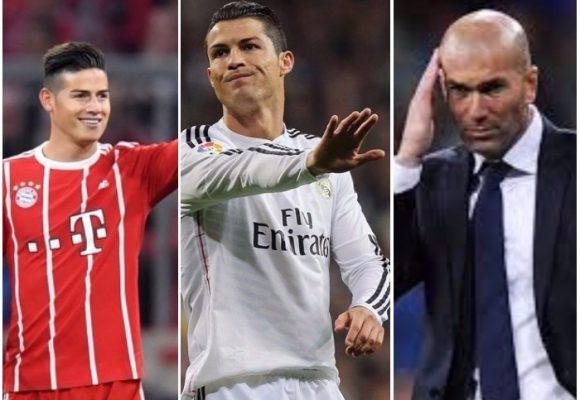 """""""Hasta un bruto como Cristiano Ronaldo le da palo a Zidane por echar a James"""""""