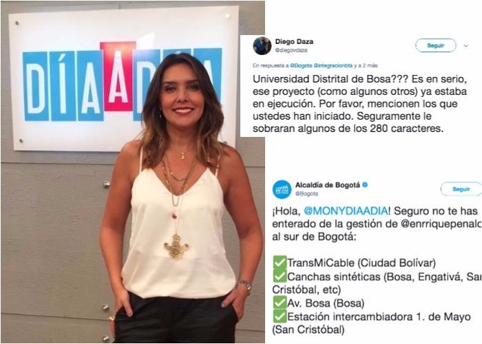 ¿Cuentas en redes de Peñalosa le dicen mentirosa a periodista de Caracol Televisión?