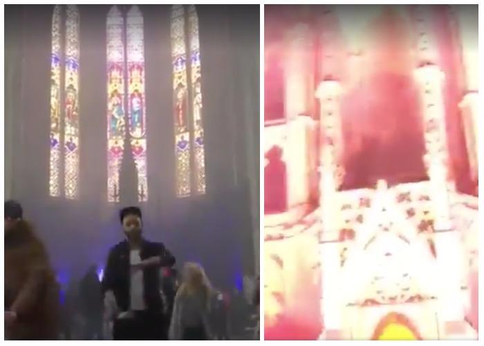 Video: Drogas, electrónica y luces en una iglesia: la nueva moda en Francia