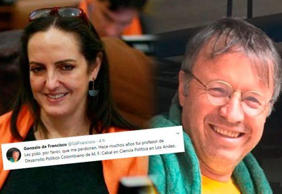 El profesor de María Fernanda Cabal en los Andes, se avergüenza públicamente de ella