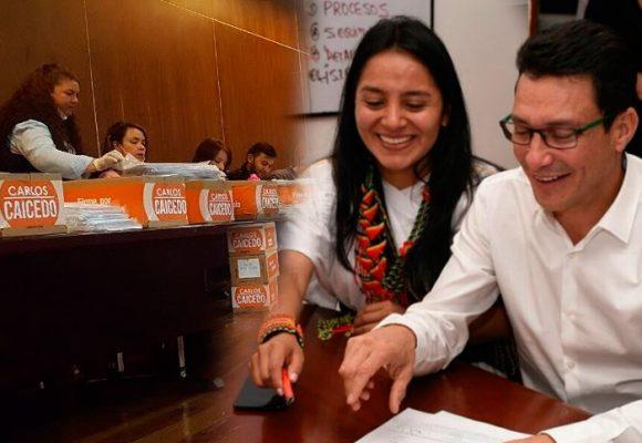 Ati Quigua, la indígena arhuaca fórmula de Caicedo, que seguirá adelante con la campaña presidencial