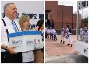 VIDEO: Alejandro Ordóñez hizo de la entrega de firmas todo un espectáculo