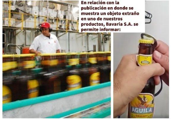 """Bavaria responde a denuncias de una largatija: """"Invitamos a denunciar la manipulación de nuestros productos"""""""