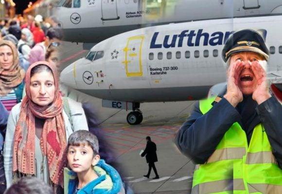 Rebelión entre los pilotos Lufhtansa: pararon vuelos para no transportar deportados