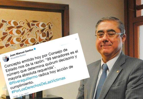 Santos canta victoria: logradas las 16 curules para las víctimas