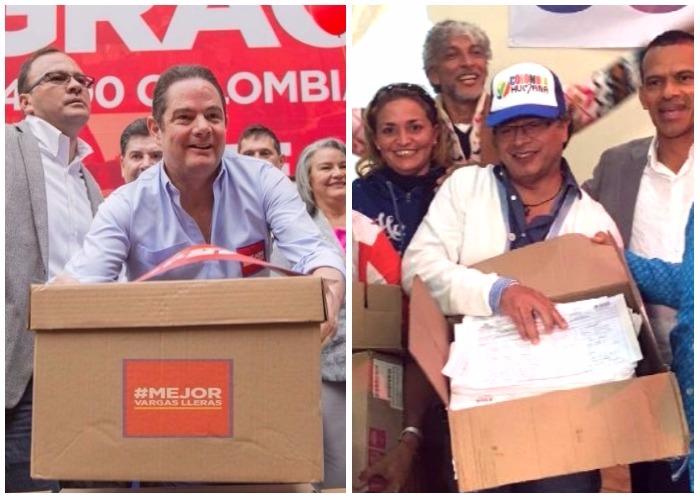 Ranking de firmas: barrió Vargas Lleras y Gustavo Petro llegó raspando
