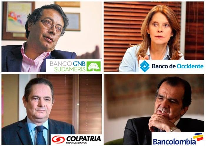 Los bancos que respaldaron a los candidatos presidenciales