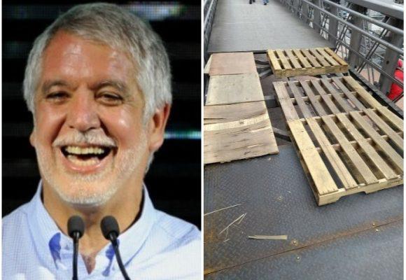Una vergüenza: si así repara Peñalosa un puente peatonal, no me imagino cómo quedará el metro elevado