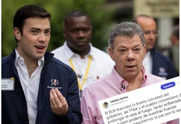 Esteban Santos, hijo del presidente, se inmiscuye en asuntos de Alto Gobierno